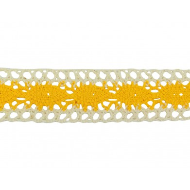 Puntilla hilo amarillo/beige 3 cm
