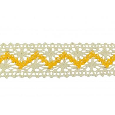 Puntilla hilo amarillo 3 cm