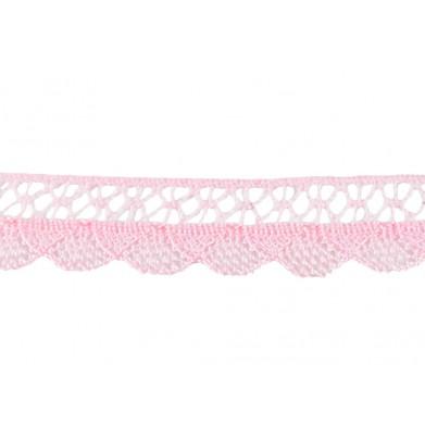 Puntilla hilo fina rosa 2 cm