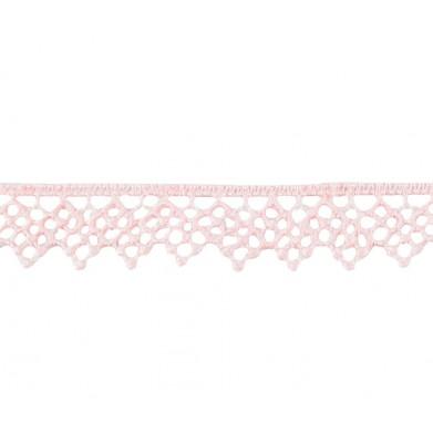 Puntilla hilo rosa claro...