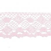 Puntilla hilo rosa bebé círculo/rombo 4 cm