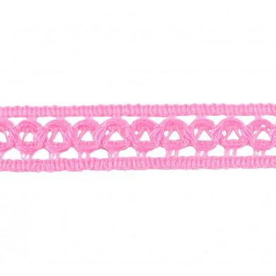 Puntilla hilo rosa 2 cm