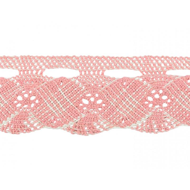 Puntilla hilo rosa 4,5 cm