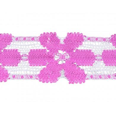 Puntilla hilo rosa 5,5 cm