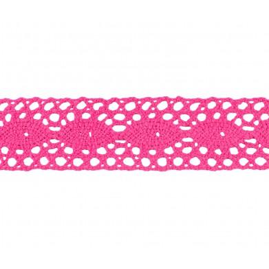 Puntilla hilo rosa 2,5 cm