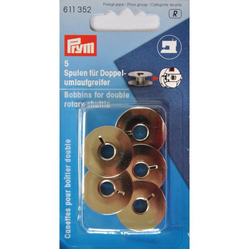 Canillas metálicas máquina de coser 21,95mm / 9mm