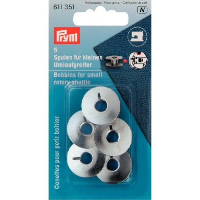 Canillas metálicas máquina de coser 21,2mm / 9,2mm