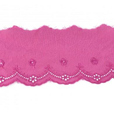 Tira bordada rosa 5,5 cm