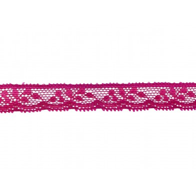 Puntilla nylon rosa 1 cm