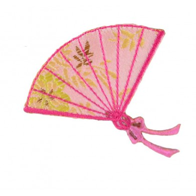 Aplique abanico rosa 6 cm x 5 cm