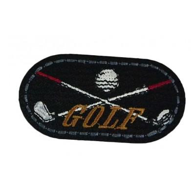 Aplique  golf 3 cm x 6 cm