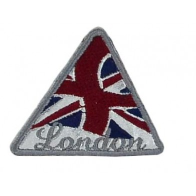 Aplique London plateada 4 cm x 5 cm