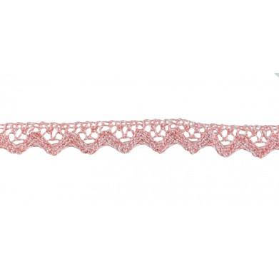 Puntilla hilo rosa/blanco...