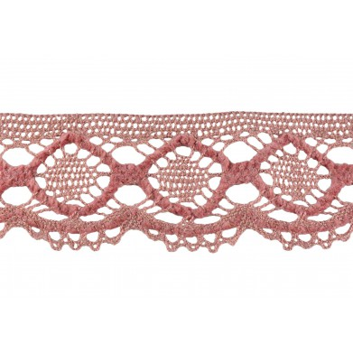 Puntilla hilo rosa 5 cm