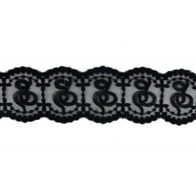 Nylon negra 5,5 cm
