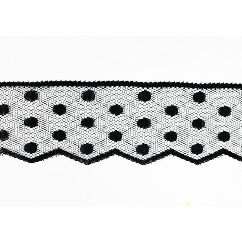 Puntilla nylon negra 5 cm
