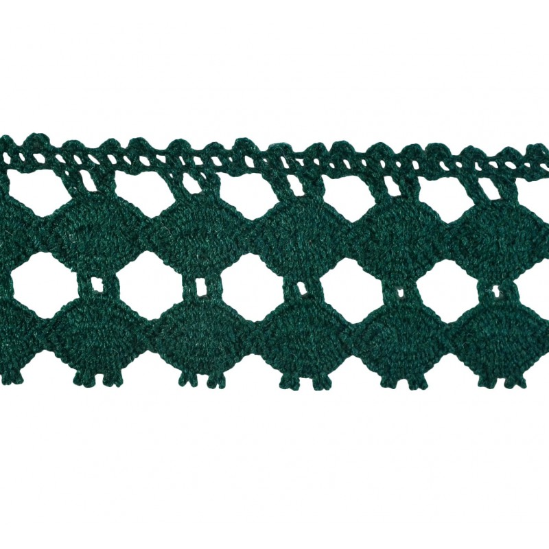 Puntilla hilo verde 3,5 cm
