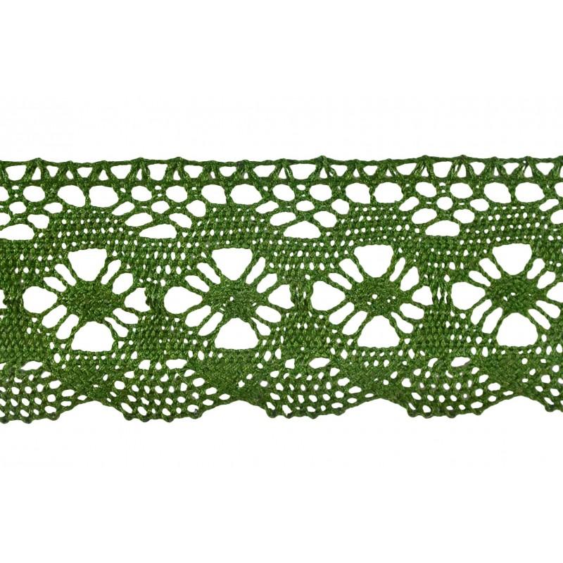 Puntilla hilo verde 4 cm