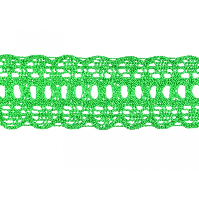 Puntilla hilo verde 4,5 cm