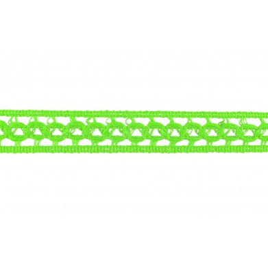 Entredós hilo verde lima...