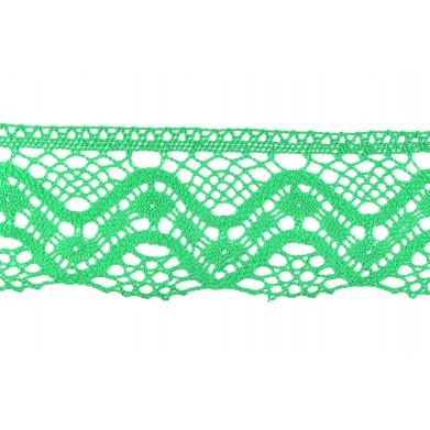 Puntilla hilo verde 6 cm