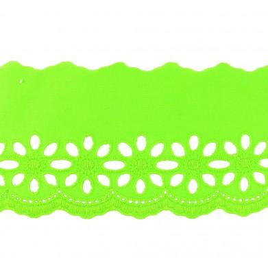 Tira bordada verde 8 cm