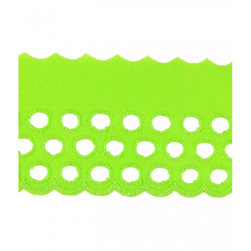Tira bordada verde 6 cm