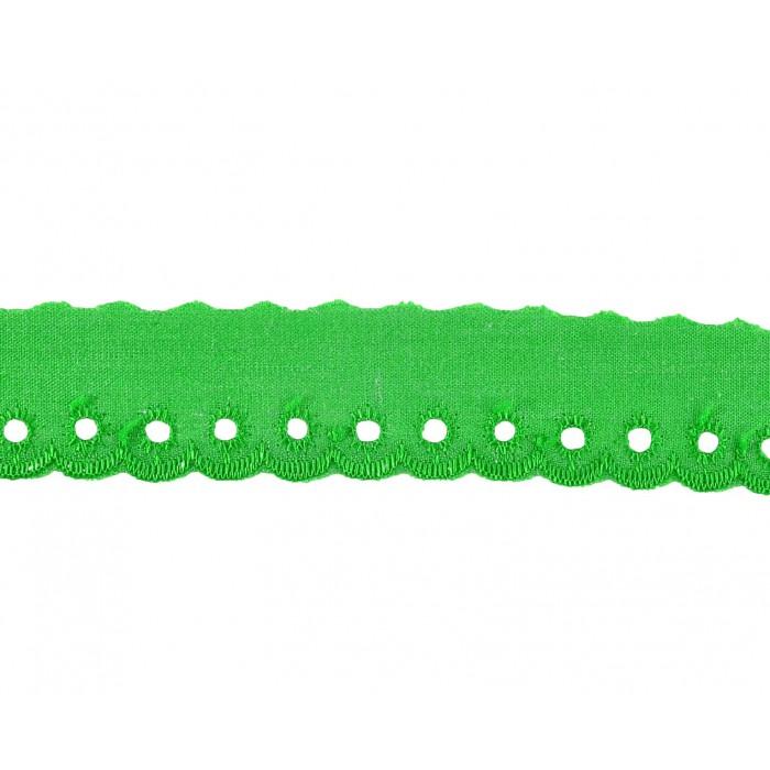 Comprar tira bordada verde 1 5 cm online merceria sarabia for Ondulina verde