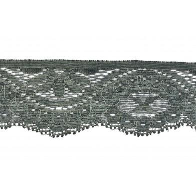 Puntilla nylon elástica verde 4,5 cm