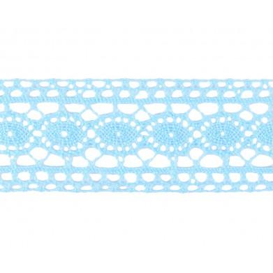 Entredós hilo azul celeste...