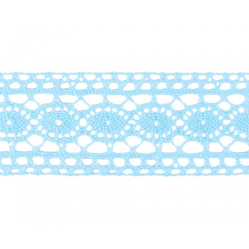 Puntilla hilo azul 3,5 cm
