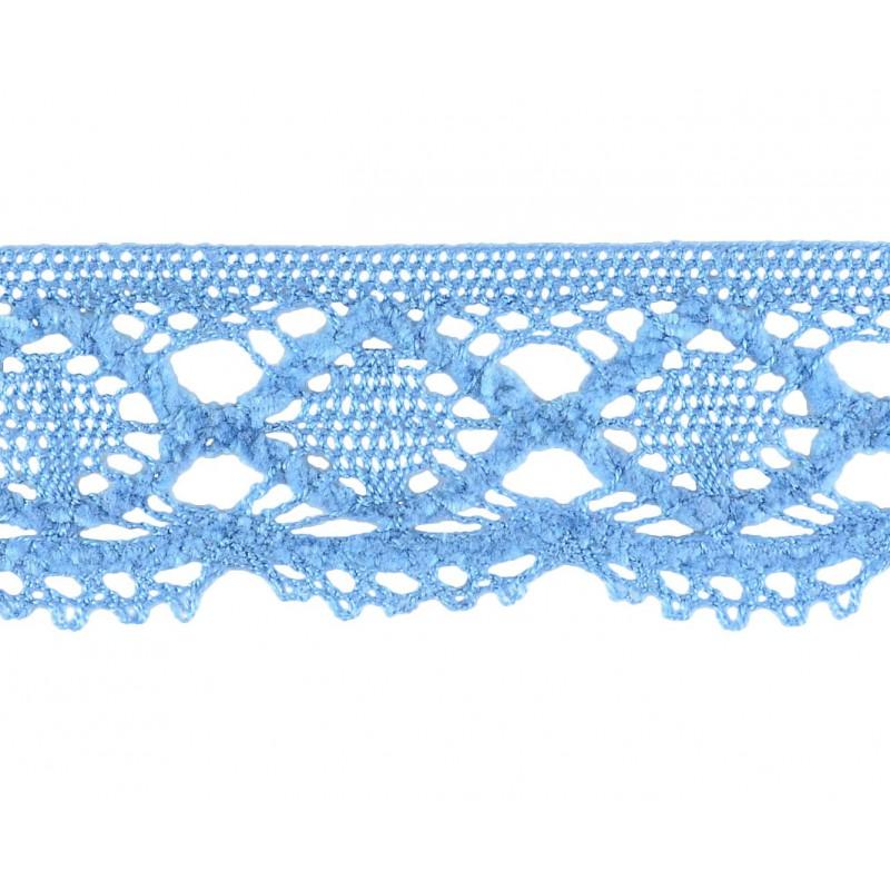 Puntilla hilo azul 4,5 cm