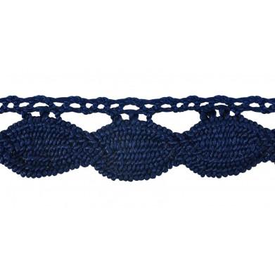 Guipur azul 2,5 cm
