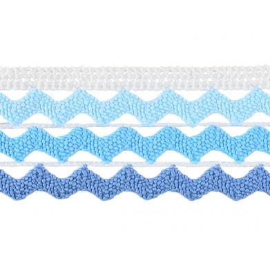 Puntilla hilo azul olas 3,5 cm