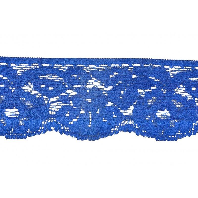 Puntilla nylon azul 4,5 cm