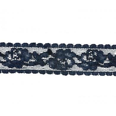 Puntilla nylon azul 2 cm