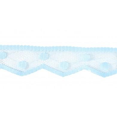 Puntilla nylon azul celeste...