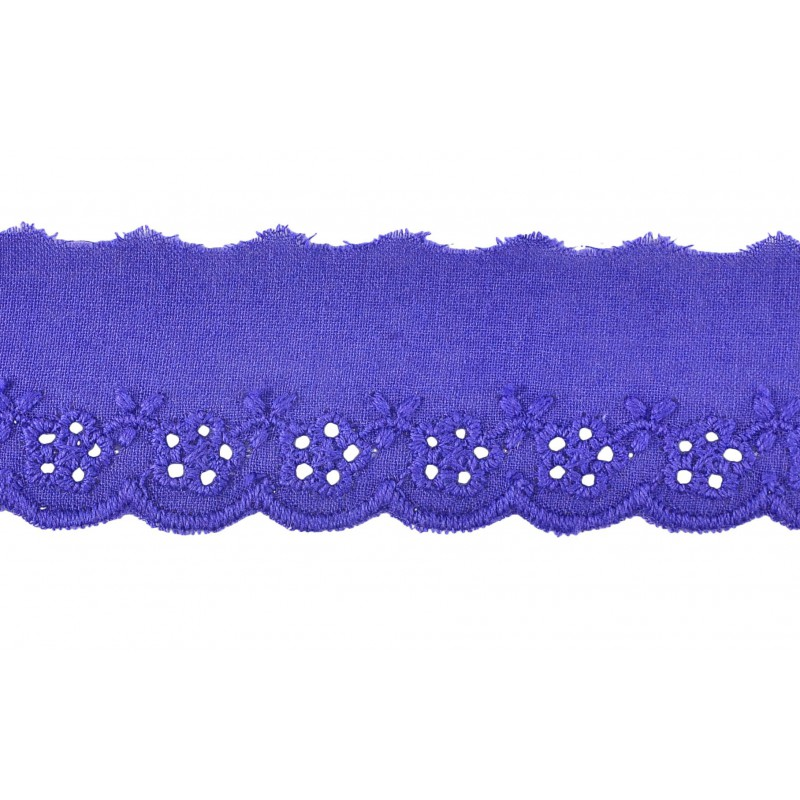 Tira bordada azul 3 cm