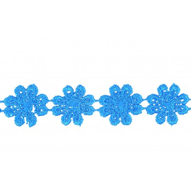 Puntilla guipur azul 2,5 cm