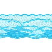 Puntilla nylon azul turquesa 5 cm