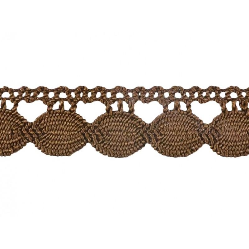 Guipur marrón 2,5 cm