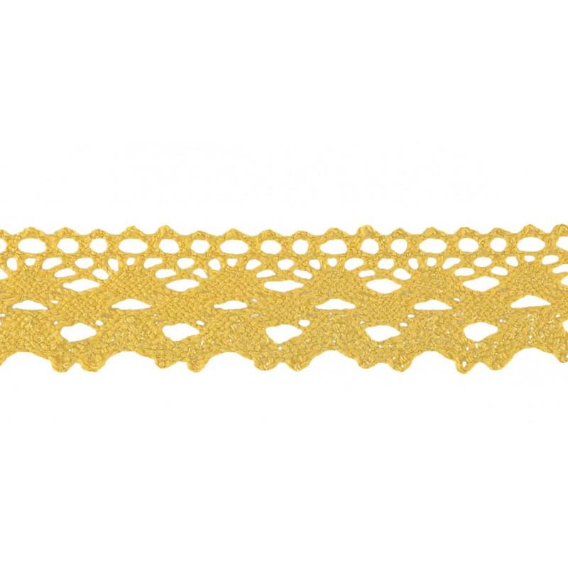 Puntilla lana marrón 3 cm