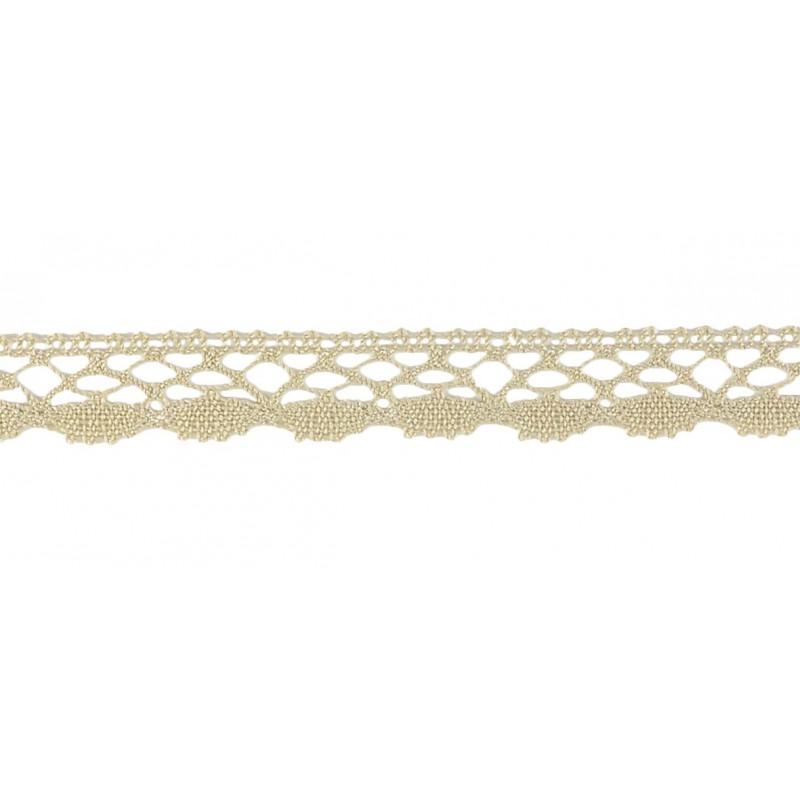 Puntilla hilo marrón 1,5 cm
