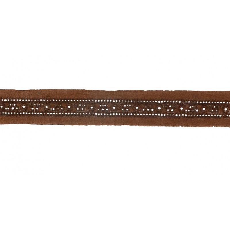 Tira bordada marrón 2 cm