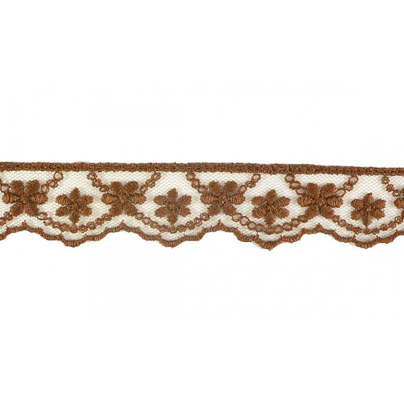 Puntilla cristal marrón 2,5 cm