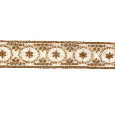 Puntilla cristal marrón 3 cm