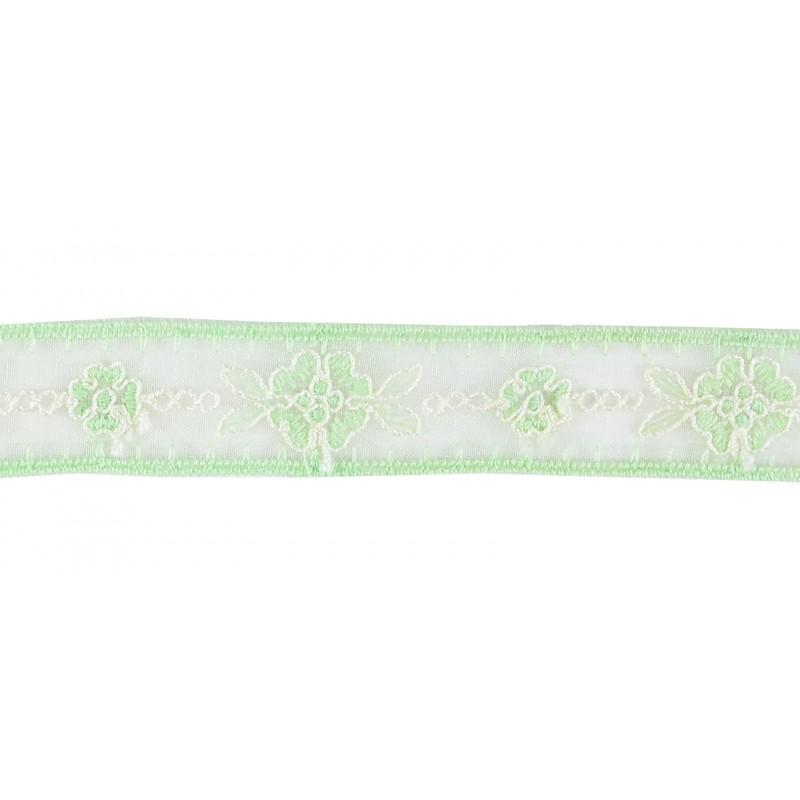 Puntilla cristal verde claro 2 cm