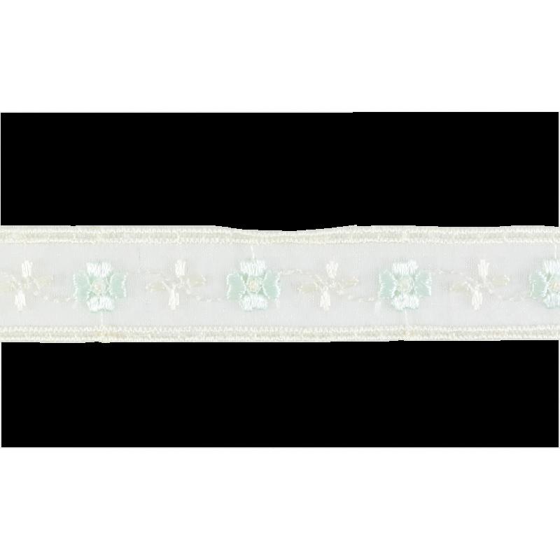 Puntilla cristal blanco/azul claro 2 cm