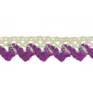 Puntilla hilo lila 1,8 cm