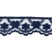 Tul bordado azul 2,5 cm